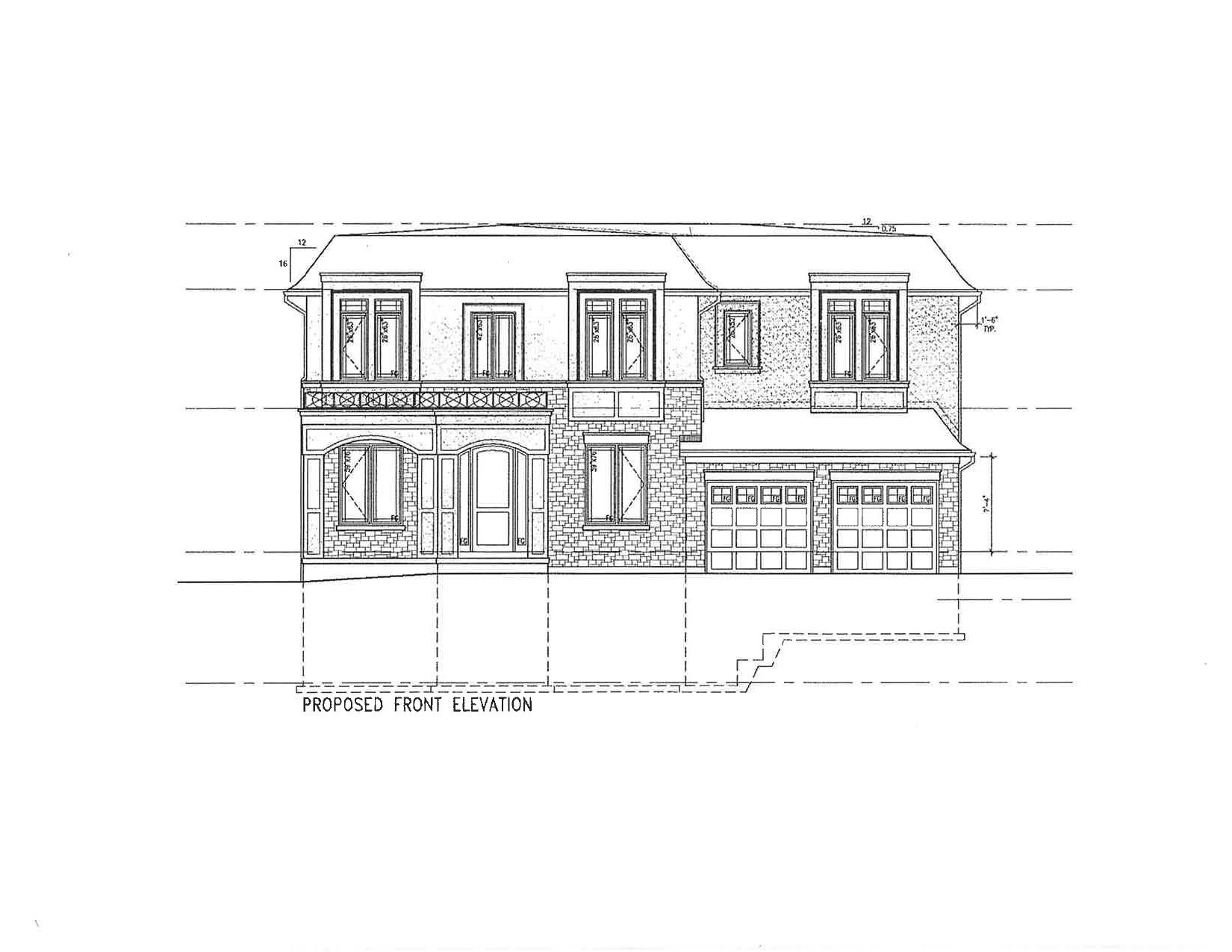 2 Proposed Front Elevation